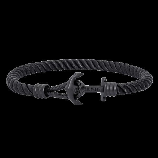 Ankerarmband Phrep Lite Schwarz Nylon Schwarz