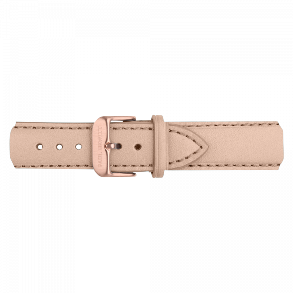Watch Strap Leather Rose Gold Hazelnut 20 mm