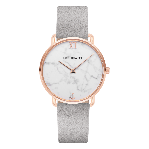 Watch Miss Ocean Marble Rose Gold Alcantara Grey