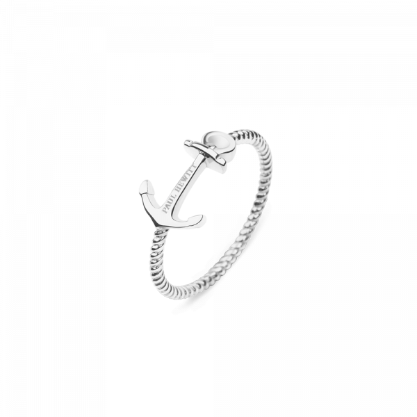 Ring Anchor Rope Silber