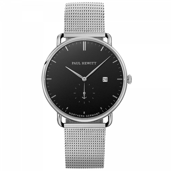 Reloj Grand Atlantic Black Sea Plateado Mesh