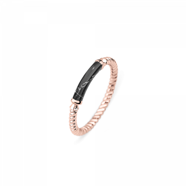 Ring Starboard Rose Gold Black Marble