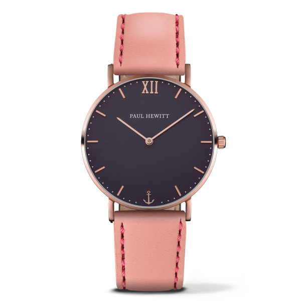 Watch Sailor Blue Lagoon Rose Gold Leather Aurora