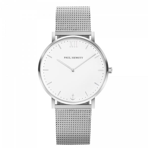 Watch Sailor White Sand Silver Mesh