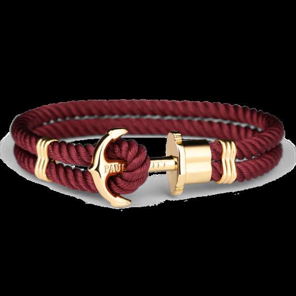 Anchor Bracelet Phrep Gold Nylon Dark Berry
