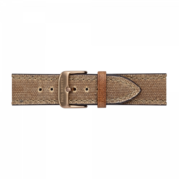 Uhrenarmband Canvas Bronze Desert 20 mm