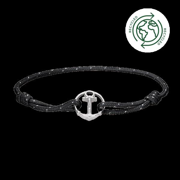 Armband Re/Brace Silber Schwarz