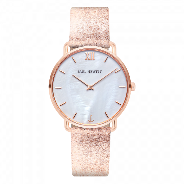 Watch Miss Ocean Pearl Rose Gold Leather Liquid Rose