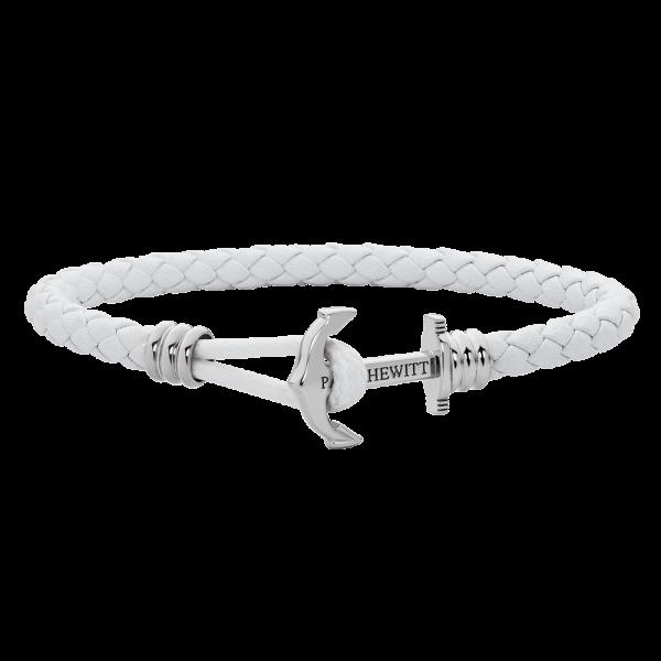 Anchor Bracelet Phrep Lite Silver Leather White