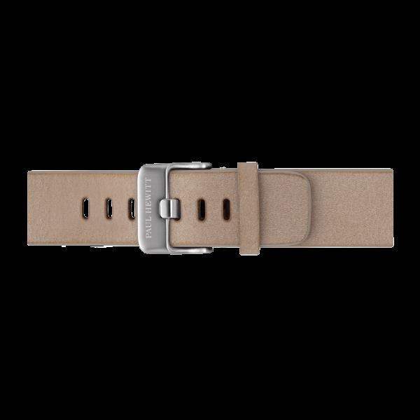 Uhrenarmband Leder Silber Sandstone 20 mm