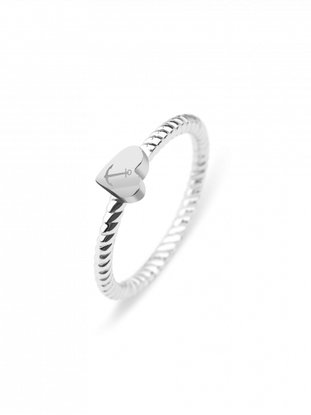 Ring Anchor Love Silber