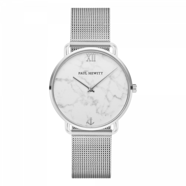 Watch Miss Ocean Marble Silver Mesh