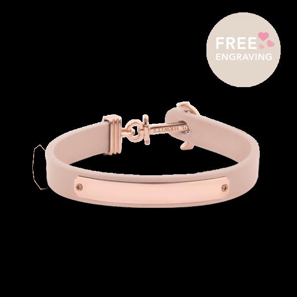 Anchor Bracelet Signum Rose Gold Leather Nude
