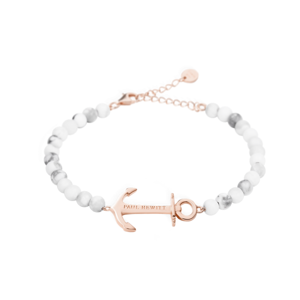 Bracelet Anchor Spirit Or Rose Marble
