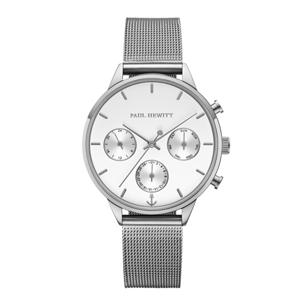 Reloj Everpulse White Sand Plateado Mesh