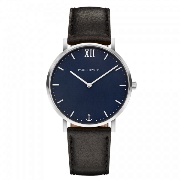 Watch Sailor Blue Lagoon Silver Leather Black