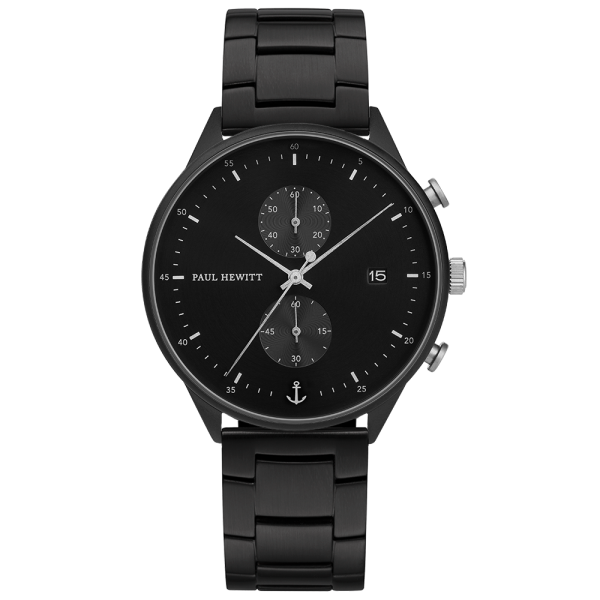 Watch Chrono Black Sunray Black Silver Metal Black