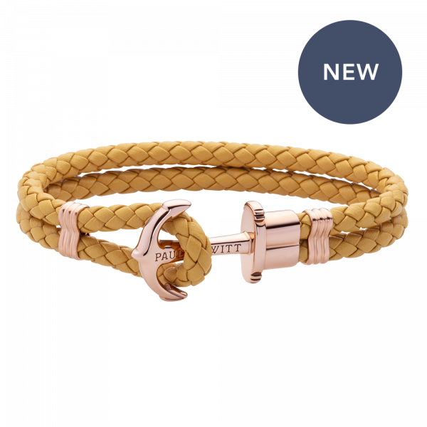 Bracelet Ancre Phrep Or Rose Canary