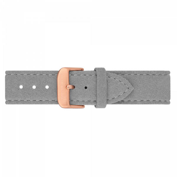 Watch Strap Alcantara Rose Gold Grey 20 mm