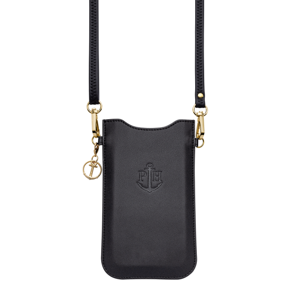 Phone Necklace Sleeve Black