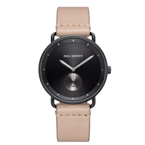 Watch Breakwater Black Sunray Black Gun Metal Leather Sandstone