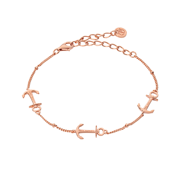 Bracelet Anchor Or Rose