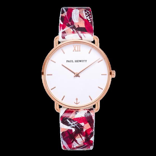 Montre Miss Ocean Paperwhite Or Rose Cuir Pink Camo