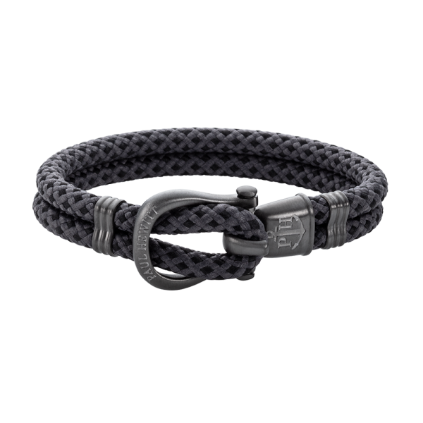 Bracelet Phinity Gun Metal Nylon Black Grey
