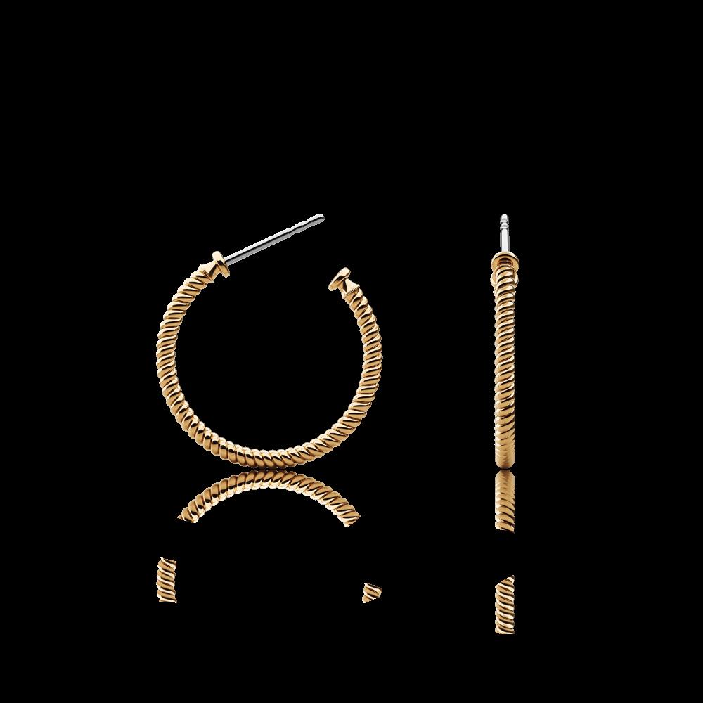 Boucles d'oreilles rope hoop or