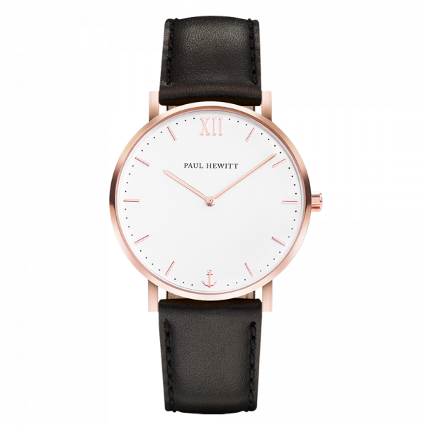 Watch Sailor White Sand Rose Gold Leather Black