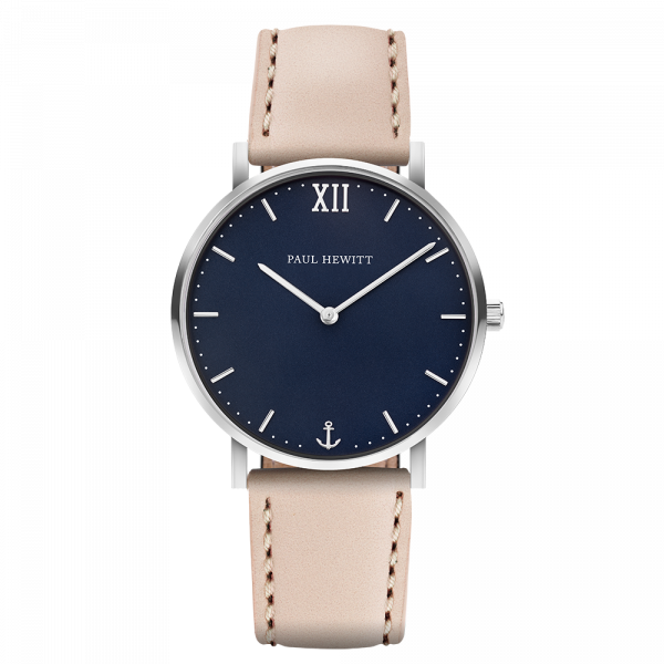 Watch Sailor Blue Lagoon Silver Leather Hazelnut