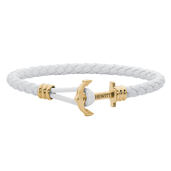 Anchor Bracelet Phrep Lite Gold Leather White