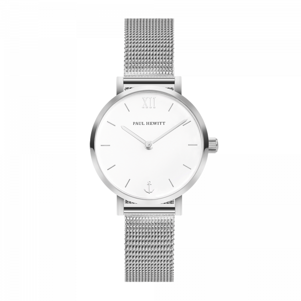 Watch Modest White Sand Silver Mesh