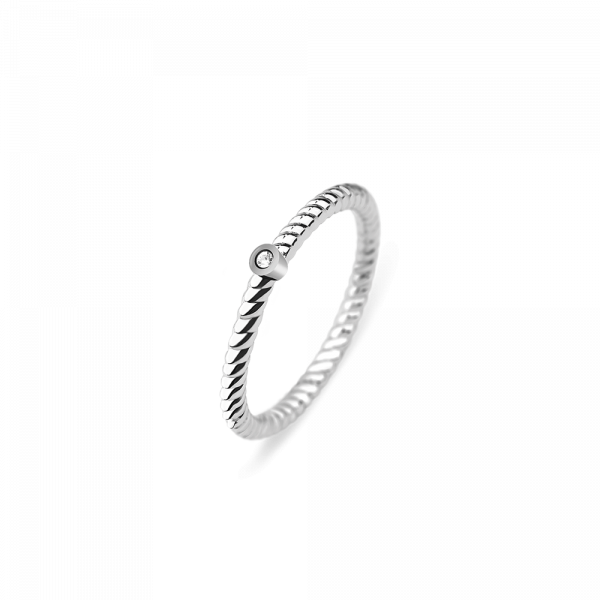 Ring North Star Silber