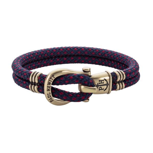 Bracelet Phinity Brass Nylon Navy Blue Red