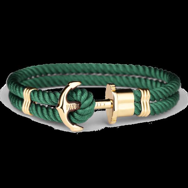 Ankerarmband Phrep Gold Nylon Grün