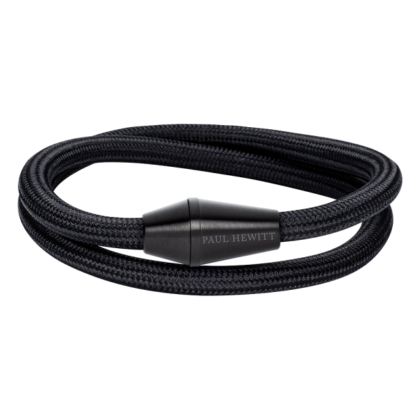 Bracelet Conic Wrap Noir Nylon Noir