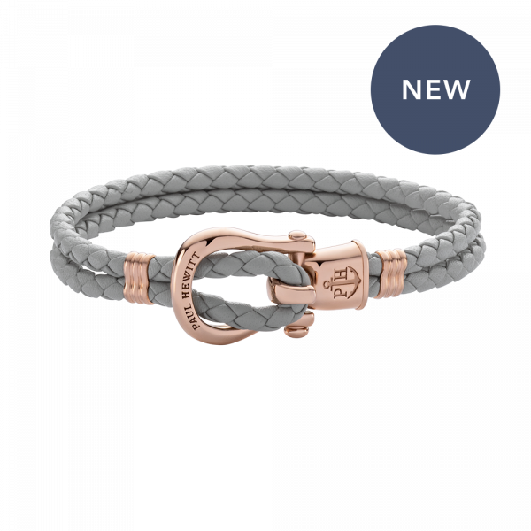 Bracelet Phinity Rose Gold Leather Grey