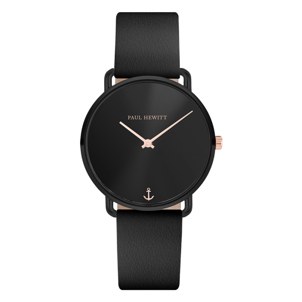 Watch Miss Ocean Black Sunray Black Leather Black
