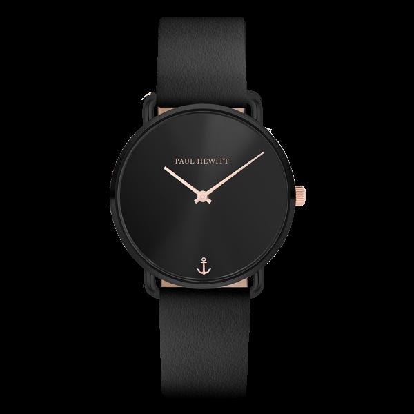 Reloj Miss Ocean Black Sunray Negro Piel Negro