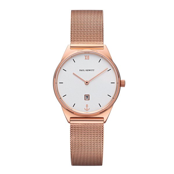 Watch Praia White Sand Rose Gold Mesh