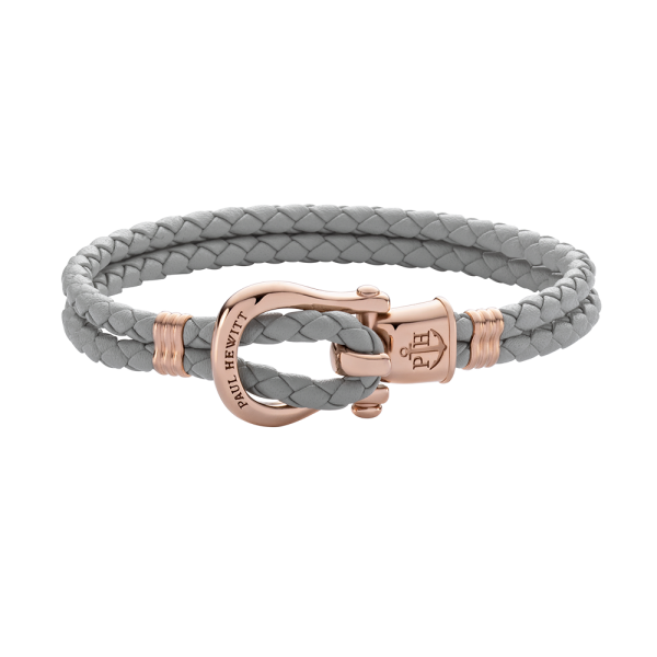Bracelet Phinity Rose Gold Leather Grey
