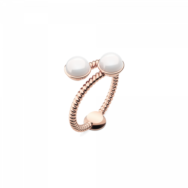Bague Rope Pearl Or Rose