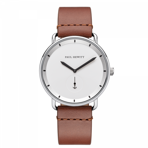 Watch Breakwater White Sand Silver Leather Mid Brown