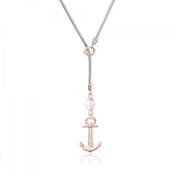 Necklace Anchor Pearl Rose Gold Silver