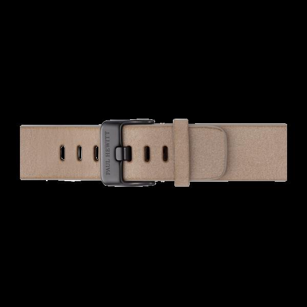 Uhrenarmband Leder Schwarz Sandstone 20 mm
