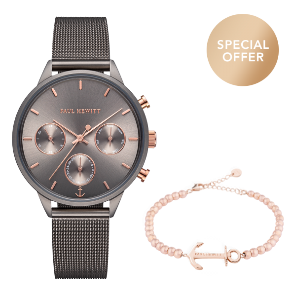 Set Perfect Match Everpulse Grey Metallic und Anchor Spirit Roségold Steel