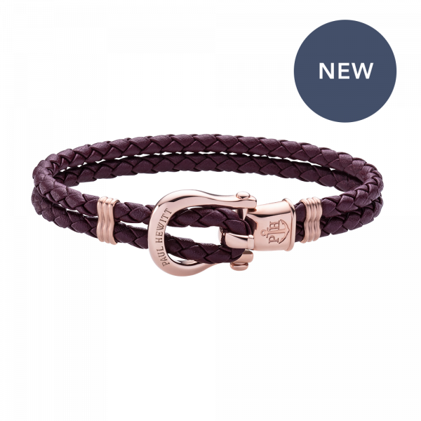 Bracelet Phinity Or Rose Dark Mauve
