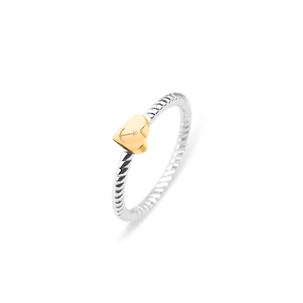Ring Anchor Love Gold Silver