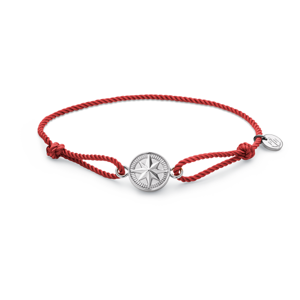 Armband Windrose Silber Amber Red
